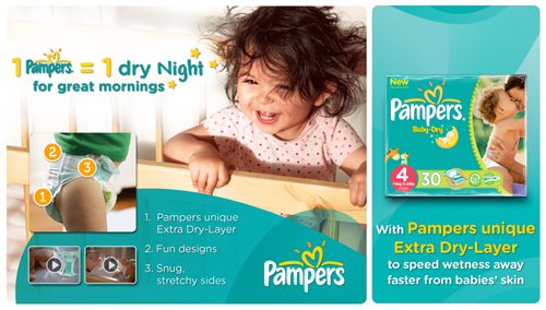 Pampers Baby-Dry Size 3, 198 Nappies, 5kg-9kg, With 3 Absorbing ...