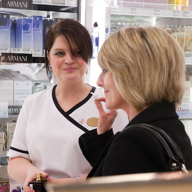 Personal shopper helping Boots customer