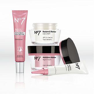 No 7 skin care range