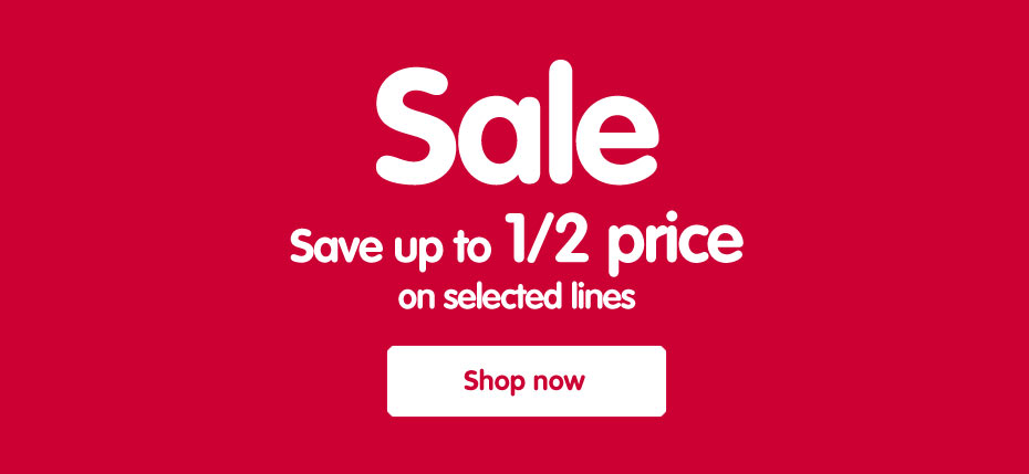 Sale - Save up to half price on selected lines