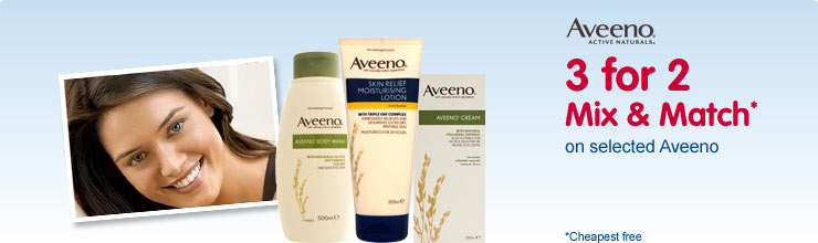 Discover our Aveeno hand and body care range