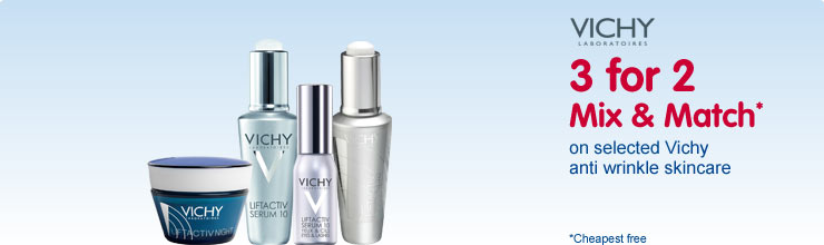 Discover Vichy lift active anti wrinkle skin care