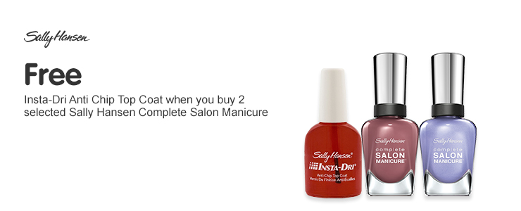 Free gift when you buy two or more selected Sally Hansen