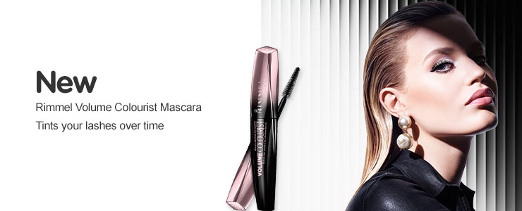 New Rimmel volume colourist mascara. Tints your lashes over time