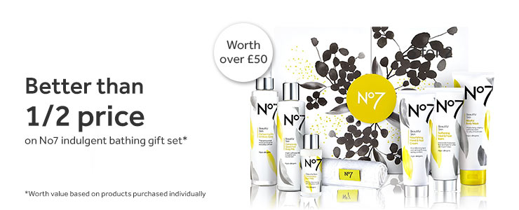 Better than half price on Number seven indulgent bathing gift set