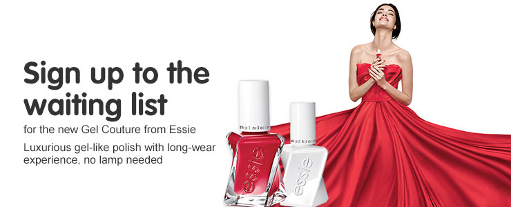 Sign up to the Essie gel couture waiting list