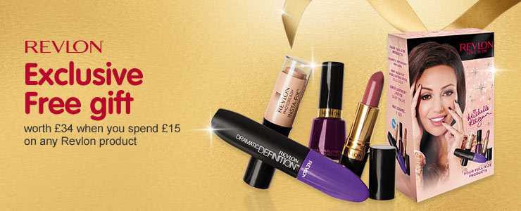 Receive a free gift when you spend fifteen pounds on selected Revlon