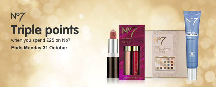 Triple Points on No7 when you spend £25