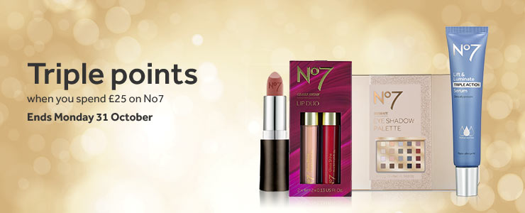 Triple Points when you spend £25 on No7