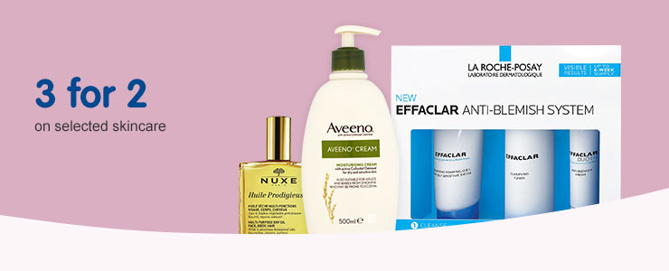 three for two on expert skincare
