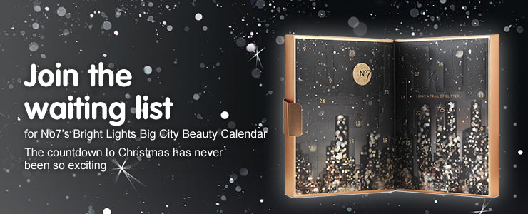 Sign up to the number seven advent calendar waiting list