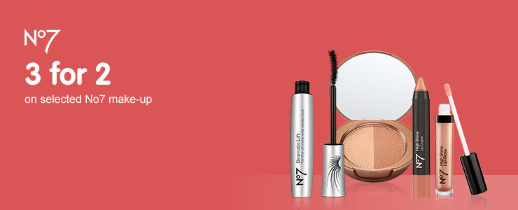 Three for two on selected Number Seven make up