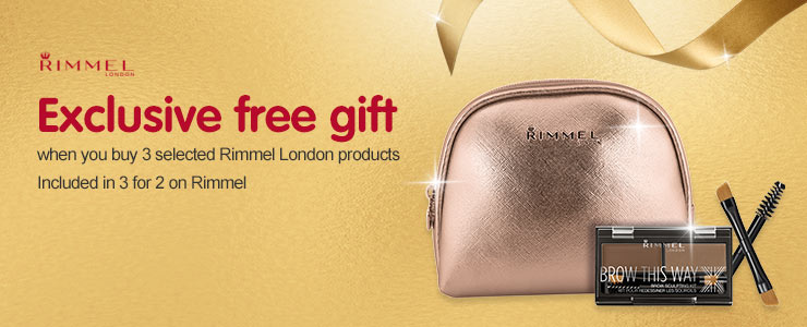 Free gift when you buy three or more selected Rimmel London