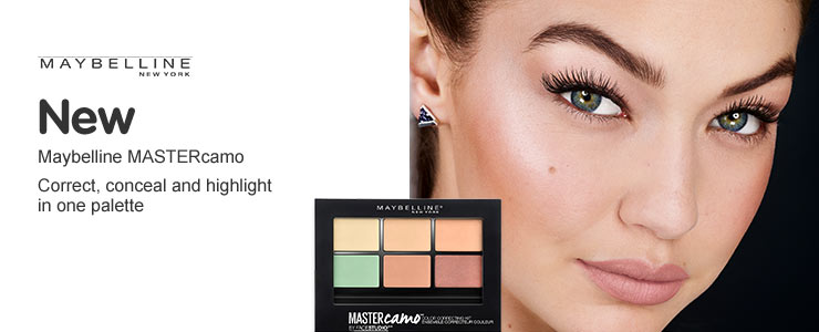 New Maybelline master camo colour correcting palette