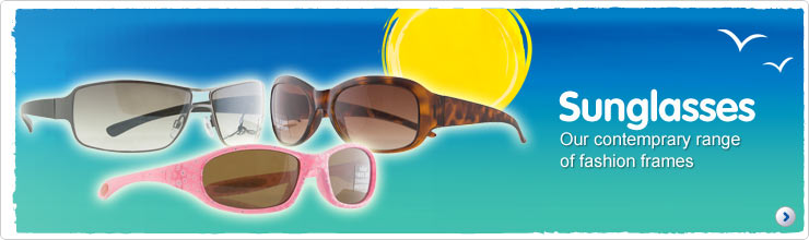 Sunglasses from our contemporary range of fashion frames