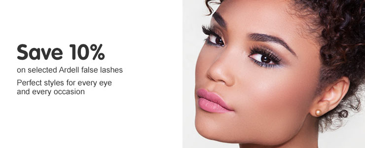 Save ten percent on Ardell False Lashes