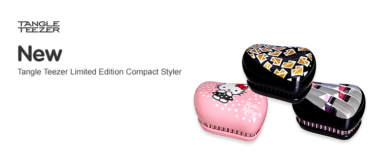 tangle teezers new limited edition compact stylers from lulu guiness, to hello kitty