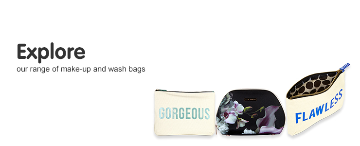 Explore our range of make- up and wash bags