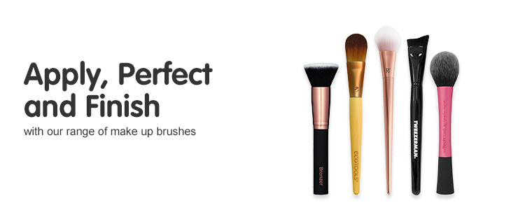Apply, perfect and finish with our range of make up brushes