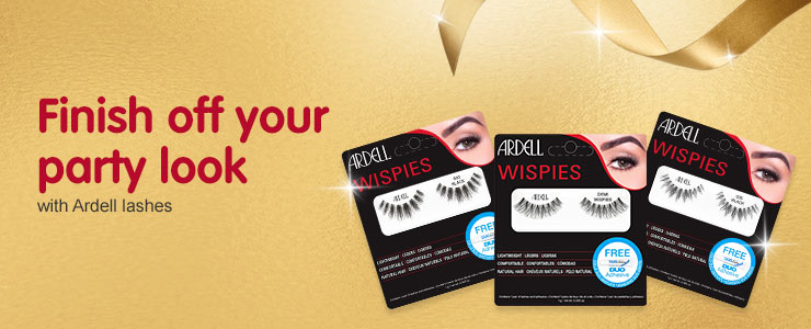 Finish off your party look with Ardell Lashes