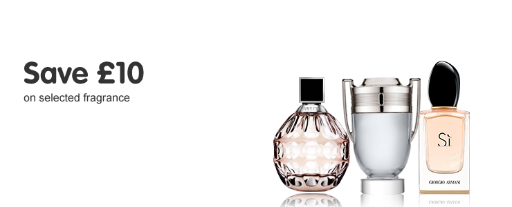 Save £10 on selected fragrance