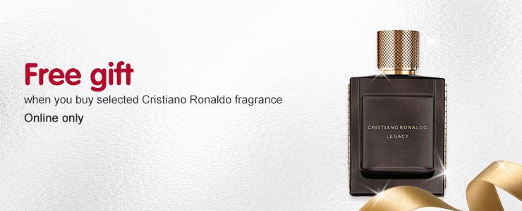 Free gift when you buy selected Ronaldo fragrance