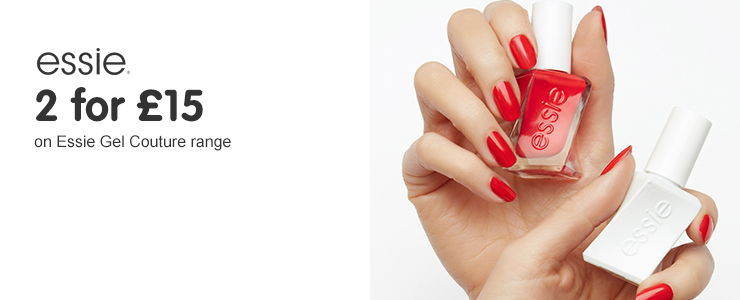 2 for £15 on Essie Gel Couture range