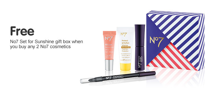 Free gift when you buy two or more selected number seven make up