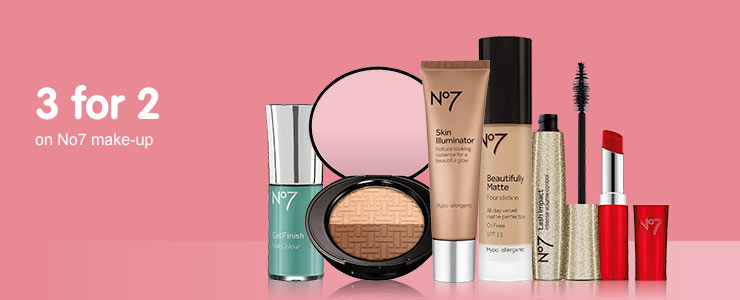 3 for 2 on selected No7 - cheapest free