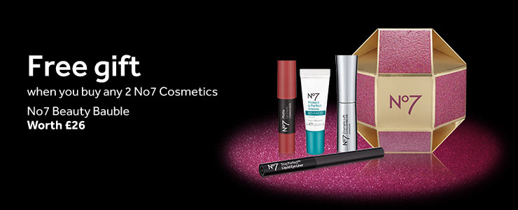 Free gift when you buy any two No7 Cosmetics