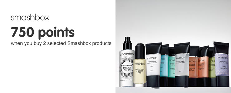 750 points when you buy 2 selected Smashbox