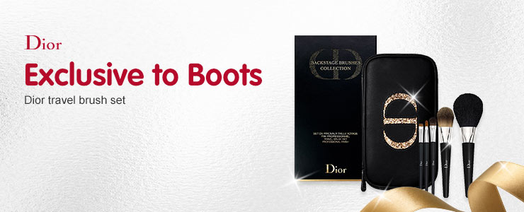 Exclusive to boots. Dior travel brush set.