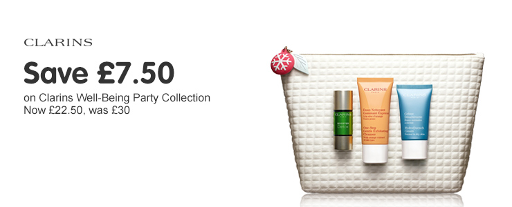 Save £7.50 on Clarins Well-Being collection