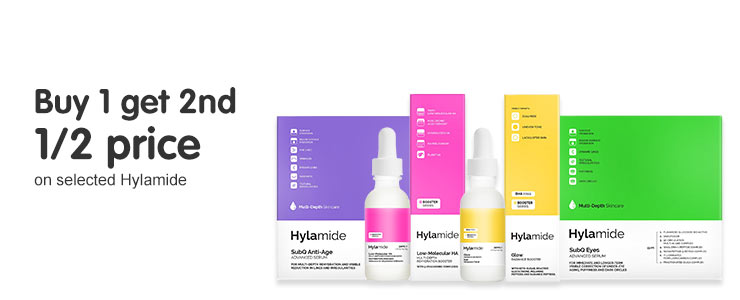 Buy one get the second half price on selected hylamide