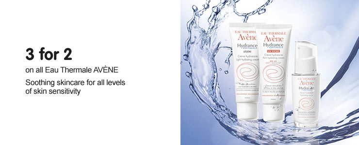 Three for two on all Avene, soothing skincare for all levels of skin sensitivity