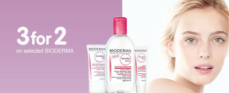 Three for two on selected bioderma