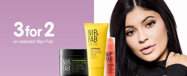 Three for two on selected Nip and Fab