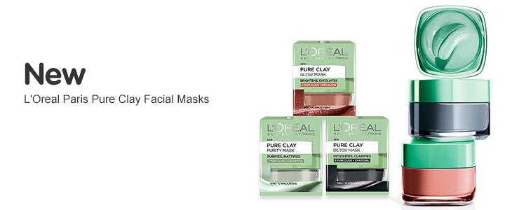 New L'Oreal Pure Clay Facial Masks