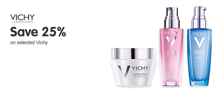 Save twenty five percent on selected Vichy