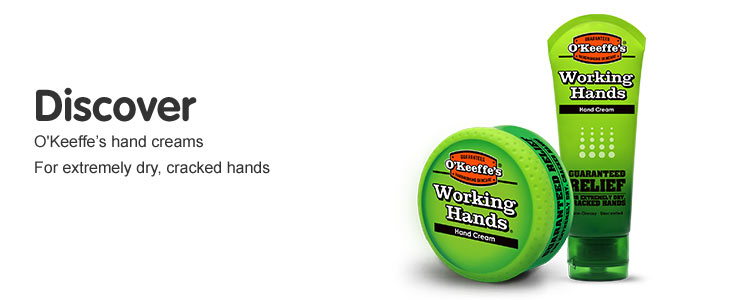 Discover O'Keefes Working Hands hand creams