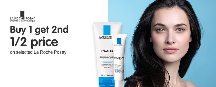 Buy one get a second half price on selected La Roche Posay