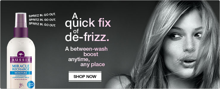 Aussie Miracle Re-Charge Spray - A quick fix for de-frizz