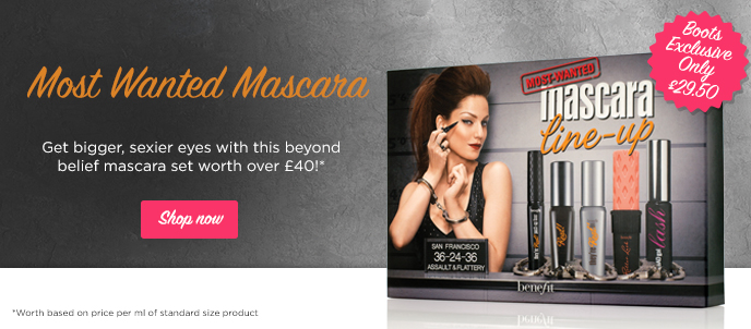 New Benefit Most Wanted mascara line up set