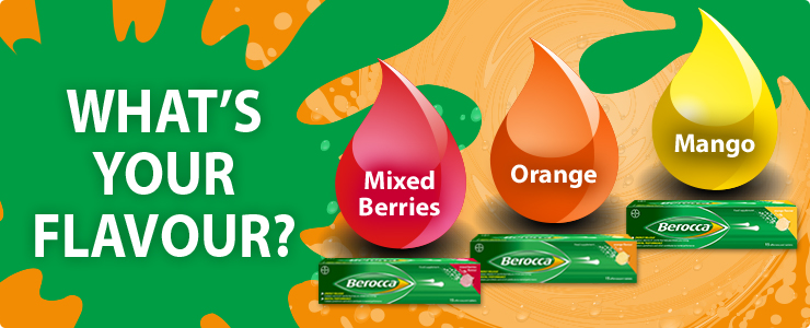 Berocca. You but on a really good day! Veiw the full product range here.