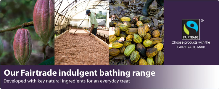 Our fairtrade indulgent bathing range