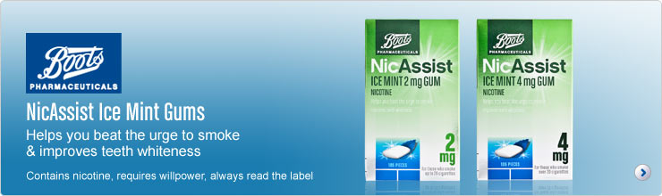 NicAssist Ice Mint gums to help you beat the urge to smoke