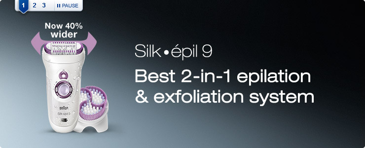 Braun silk epil 9 best 2 in 1 epilation and exfoliation system