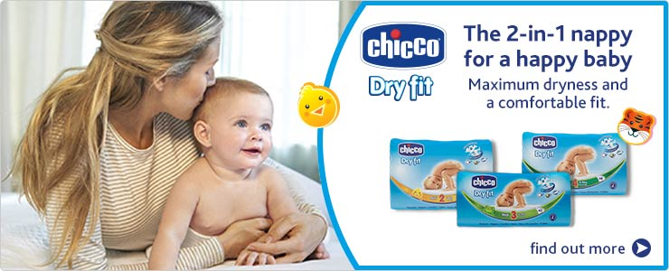 Chicco 2in1 Napies maximum dryness and a comfortable fit