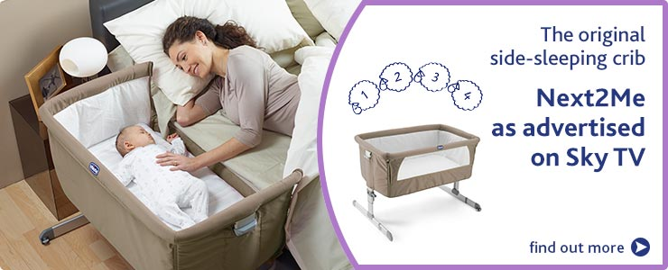 Discover Chicco Next2me side sleeping crib