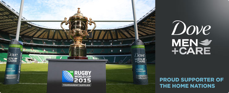 Dove Men + Care Proud Sponsors of the Rugby world cup